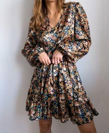 Sukienka wiosenna, kwiaty