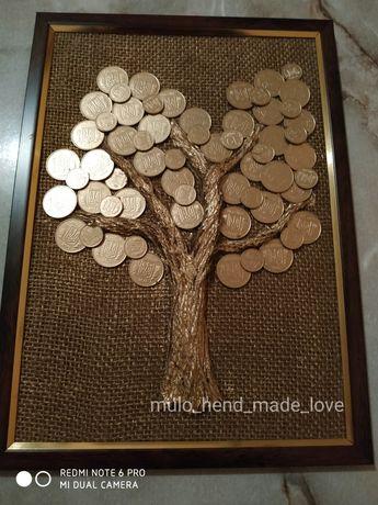 Картина Денежное дерево ручная работа