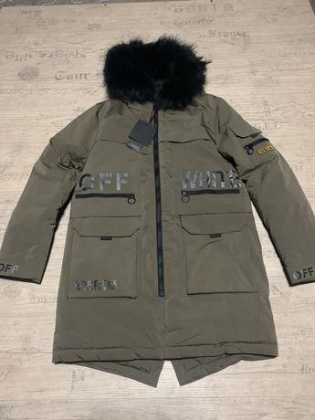 OFF WHITE куртка парка аляска палто зима удленненка в наличии