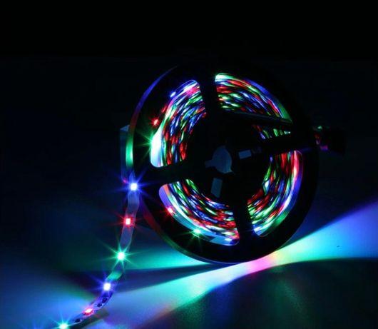 ГОТОВЫЙ КОМПЛЕКТ/МЕНЯЕТ ЦВЕТ Светодиодная LED лента RGB 5050 с пультом