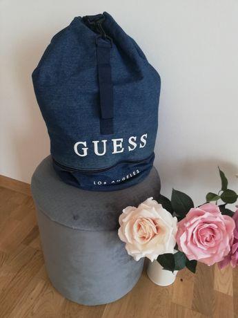 Worek jeansowy Guess torba sportowa na ramię