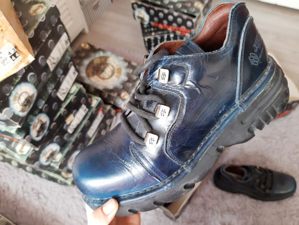 Skórzane męskie buty New Rock