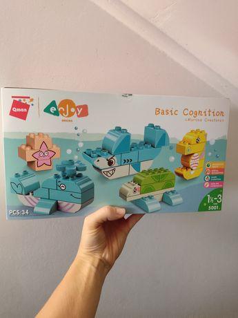 Конструктор qman, совместим с lego duplo, большие детали