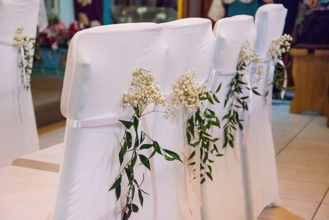 Elastyczne pokrowce na krzesła 3.00 zł spandex pokrowiec krzesło białe