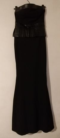Платье вечернее с баской