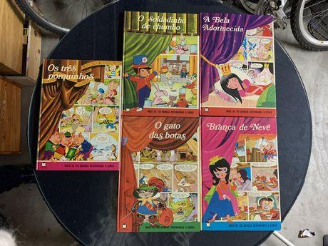 Coleçao de livros de banda desenhada de crianca