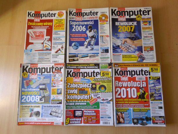 """6 roczników czasopisma """"Komputer Świat"""" - 148 zeszytów + 145 CD"""