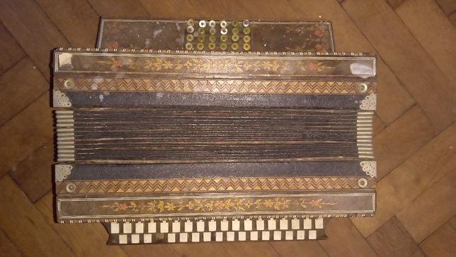 Harmonia pedałowa , ręcznie wykonana , stara oryginalna ,