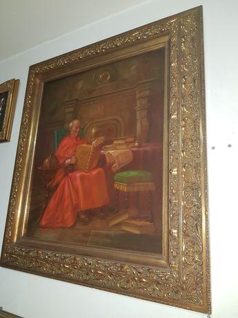 XIX w Portret  Kardynała Niezwykle  Barwny Obraz Stadlmayr !!!