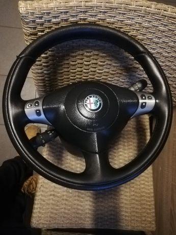 kierownica skóra airbag przełączniki tempomat komplet ALFA 147