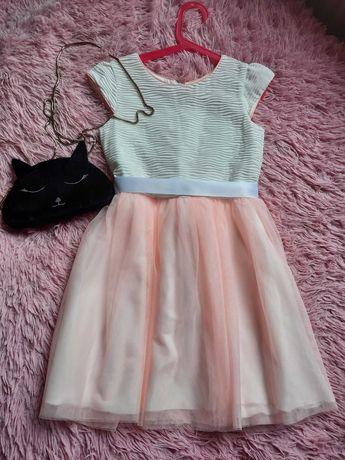 новое Платье Zara нежное на девочку 9-10 лет (140см)
