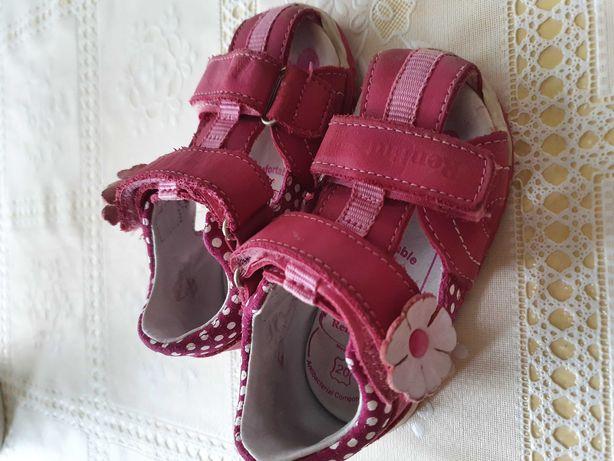 Sandały różowe RenBut roz. 20 wkładka skórzana 13.4cm