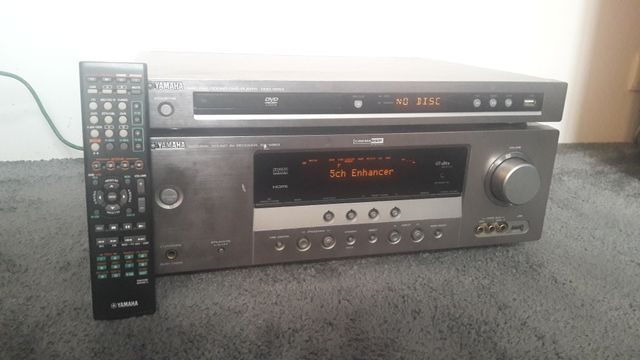 Amplituner kino domowe Yamaha rx v463 oraz odtwarzacz DVD CD Yamaha