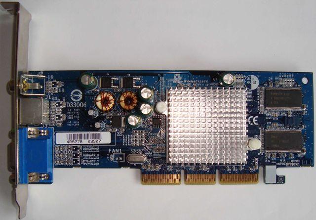 Видеокарта AGP Gigabyte GV-N40128TE NVIDIA GeForce MX 4000 128Mb DDR