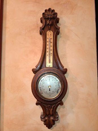 Stary barometr + termometr
