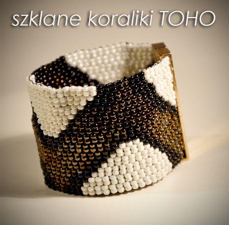 Bransoletka koralikowy haft