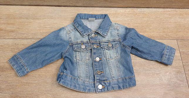 Jeansowa kurteczna dla dziewczynki H&M roz. 68