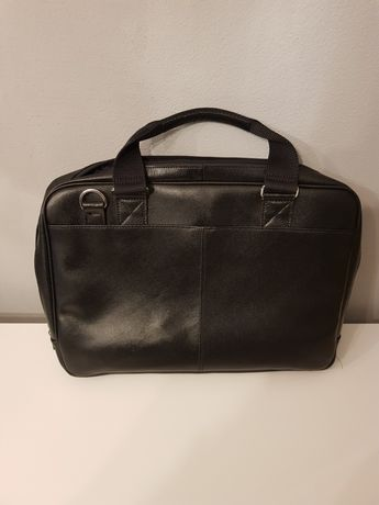 Skórzana elegancka torba na laptopa