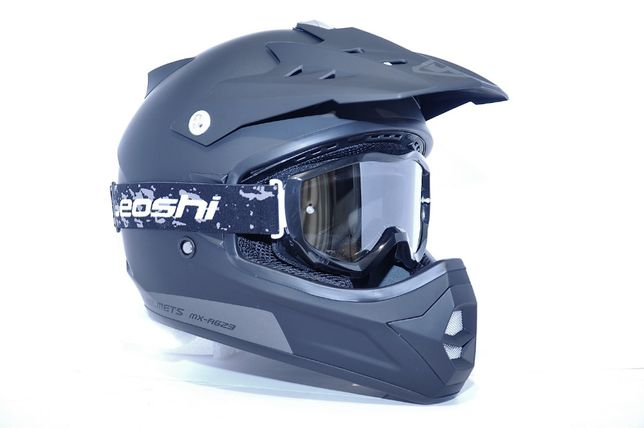 Kask YOHE MX 623 Cross Enduro Atv + Gogle Leoshi