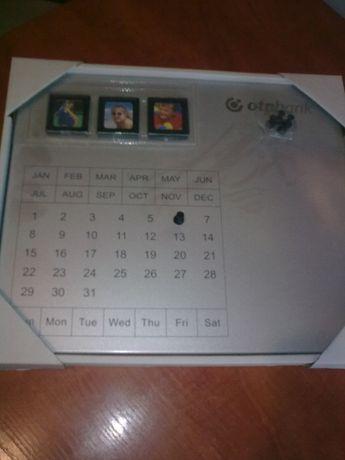 магнитный металлический календарь