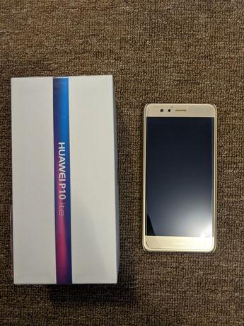 Huawei P10 Lite 3/32 Gold в идеальном состоянии + чехол в подарок