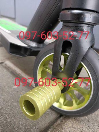 Трюковый самокат Best Scooter Зелёный+2 Пеги, ХИК система, колёса 110