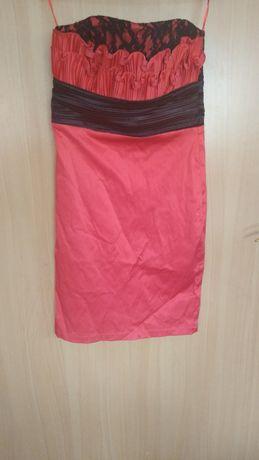 Sukienka czarno-czerwona 38