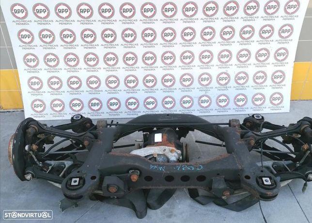 Mecânica traseira BMW E87 120D 2007, braços, mangas de eixo, charriot.