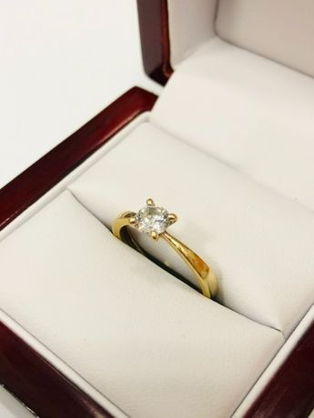 złoty pierścionek 585 1,88g R:12