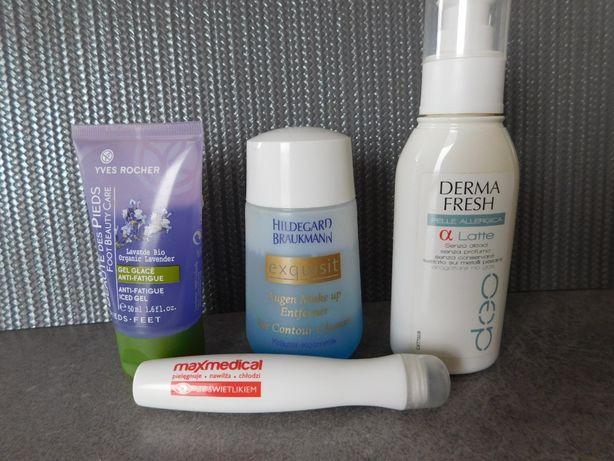 Oddam za darmo zestaw kosmetyków Yves Rocher, H. Braukmann i inne