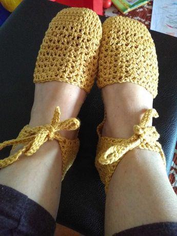 Sandálias em crochet