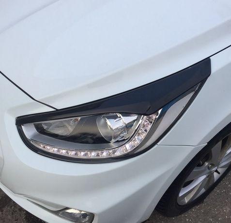 Реснички на фары Hyundai Accent/Elantra/Getz/Santa Fe/Sonata/Tucson