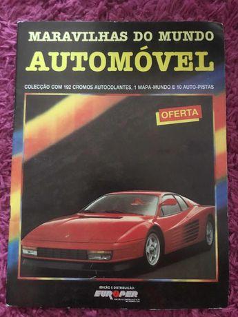 Caderneta completa antiga automóveis
