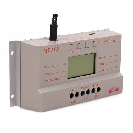 Controlador/Regulador solar digital mppt de 30a 12v/24v