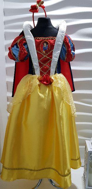 Disney suknia balowa królewna Śnieżka 7-8lat r.128 bal urodziny prezen