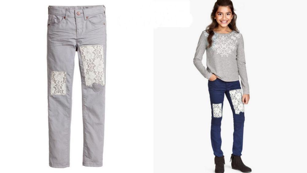 H&M Szare spodnie z koronka 164 jak NOWE Pruszcz Gdański - image 1