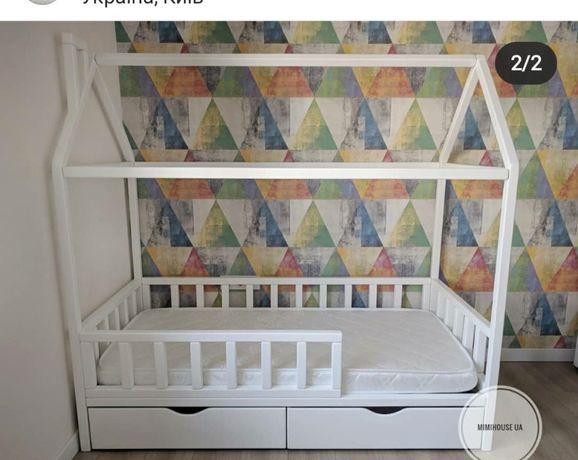 В НАЛИЧИИ. Деревянная кроватка домик. Детская кровать, 160*80 см