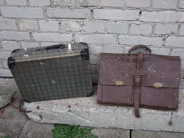 Stara walizka plus torba