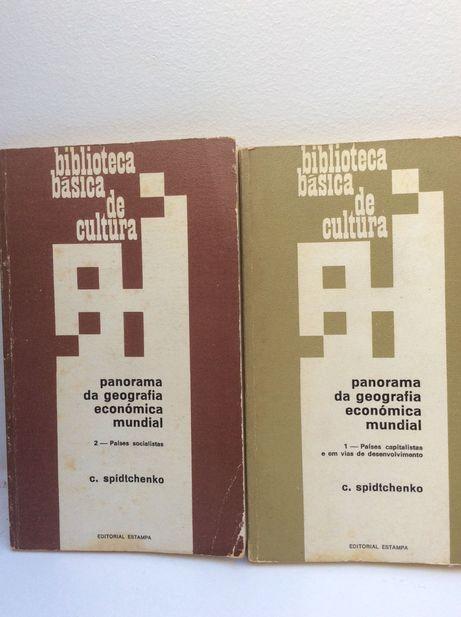 """Lote de 2 livros de 1974 - """"Panorama da Geografia económica mundial"""""""