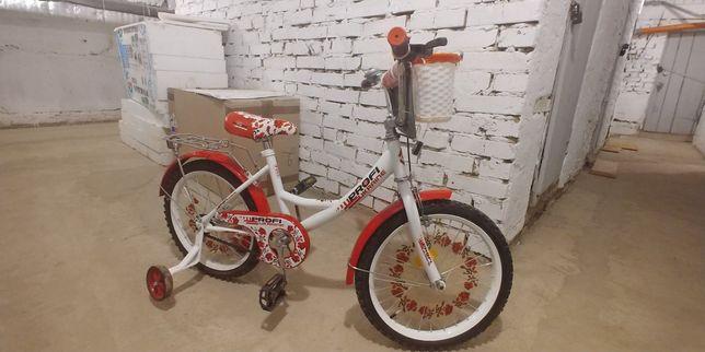 """Велосипед дитячій колеса на 18"""", новий не їздили."""