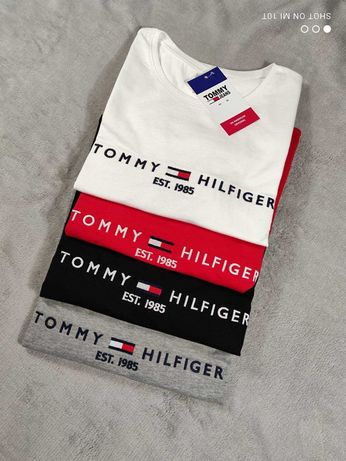 Damskie koszulki wyszywane S M L XL XXL tommy hilfiger TH