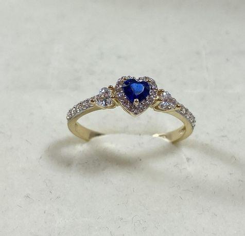NOWY piękny złoty pierścionek 2,05g / 585 / r. 16