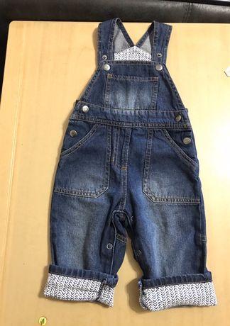 Джинсовый комбинезон, джинсовий комбінезон lupilu 6-9м