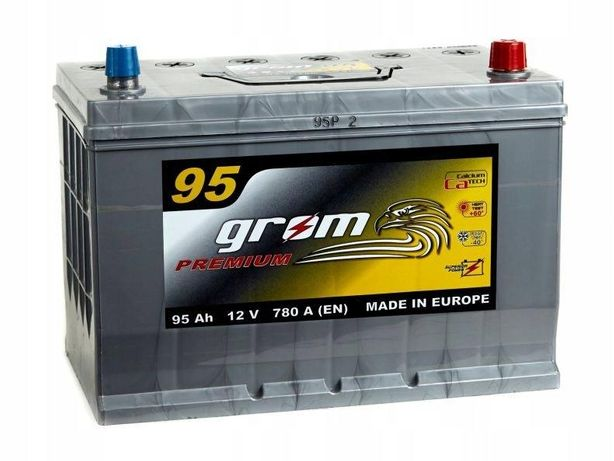Akumulator Grom Premium 95Ah/780A Japan Prawy plus
