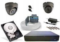 Tani monitoring domu firmy sklepu magazynu 2 kamery FullHD 3,6mm 2Mpx
