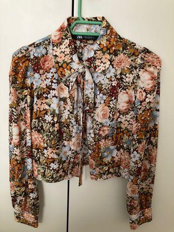 Camisa crop - Zara