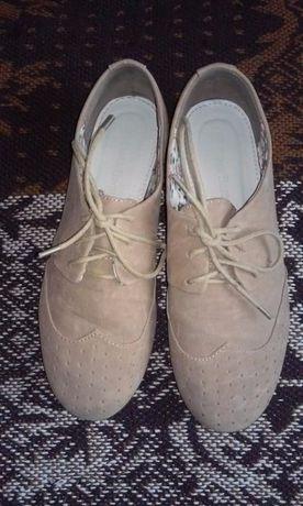 Jasno brązowe pół buty