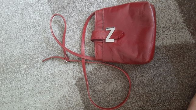 Mała czerwona torebka Vera Pelle