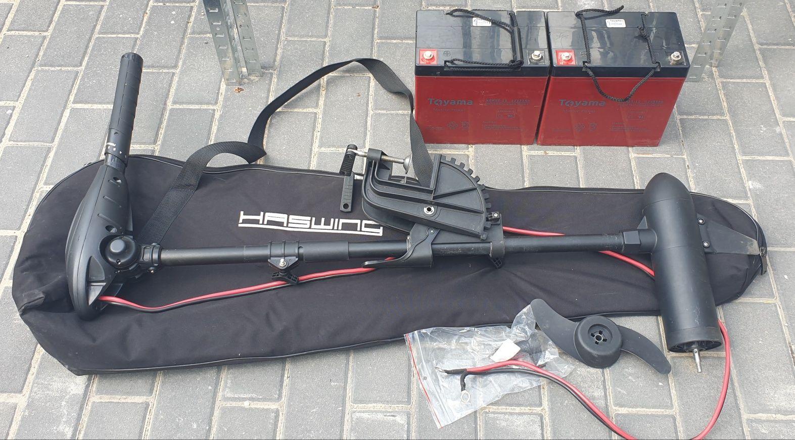 Silnik Haswing Osapian 40lb plus dwa akumulatory