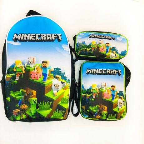 Майнкрафт школьный набор рюкзак, сумка и пенал- производитель